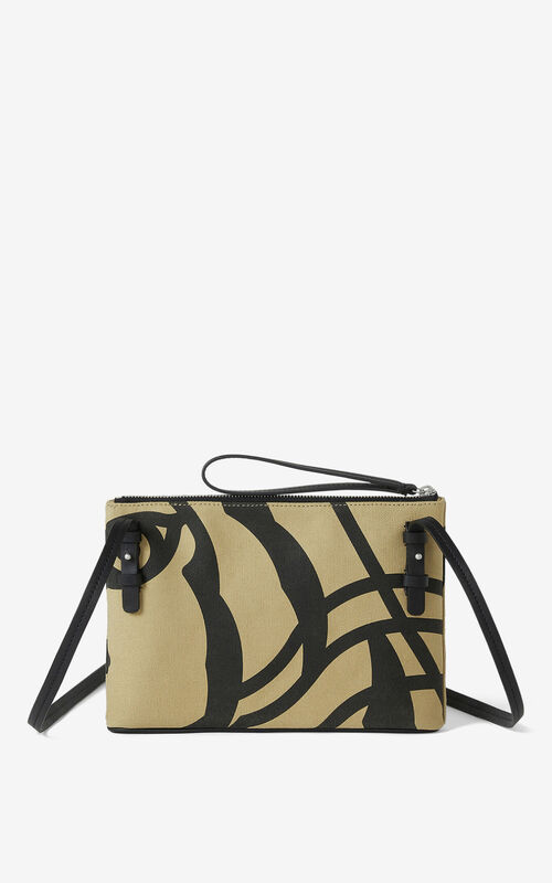 BEIGE KENZO Arc crossbody bag with gusset for unisex