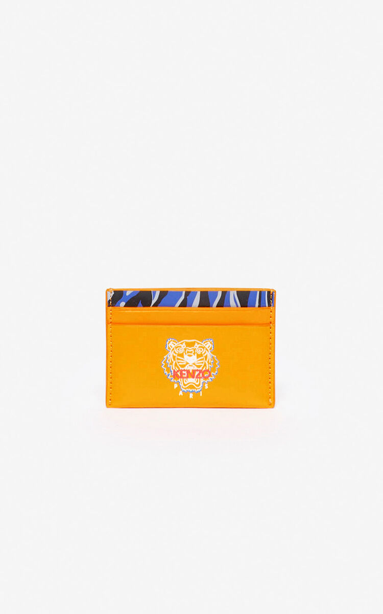 MARIGOLD 'Tiny Tiger' leather card holder for men KENZO