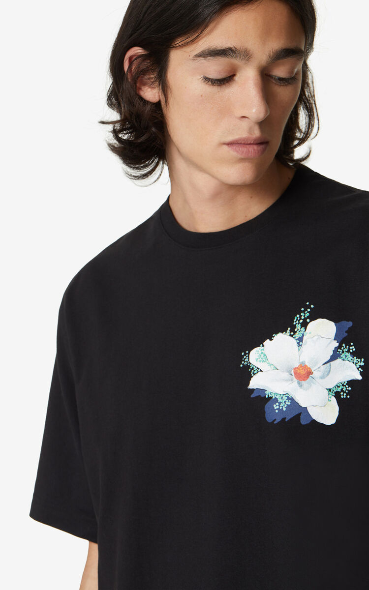 BLACK 'Tulipes' t-shirt for global.none KENZO