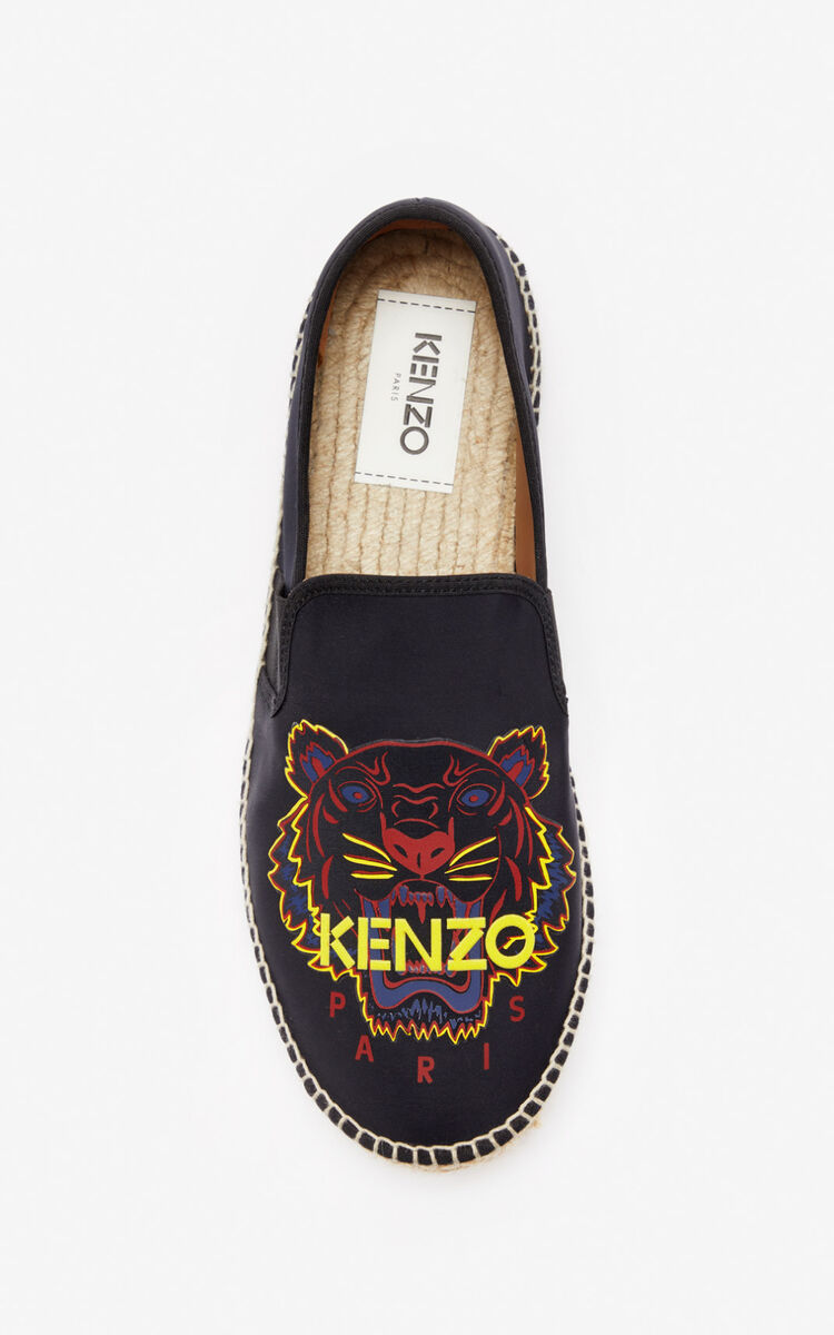 BLACK Neoprene Tiger espadrilles for unisex KENZO