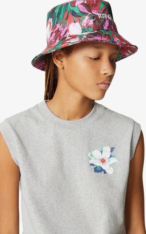 MEDIUM RED 'Tulipes' sunhat for women KENZO