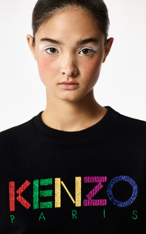 BLACK 'Holiday Capsule Collection' KENZO Paris sweatshirt for women