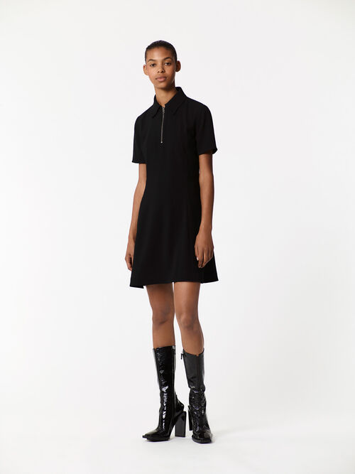 BLACK Polo Shirt Dress for women KENZO