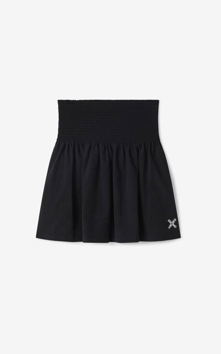 BLACK KENZO Sport 'Little X' flared skirt for women