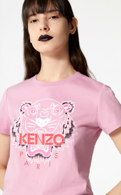 ROSE 'Bleached Tiger ' T-shirt for women KENZO