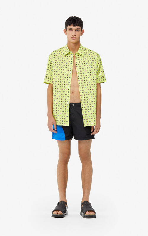 BLACK 'Dots' swim trunks for men KENZO