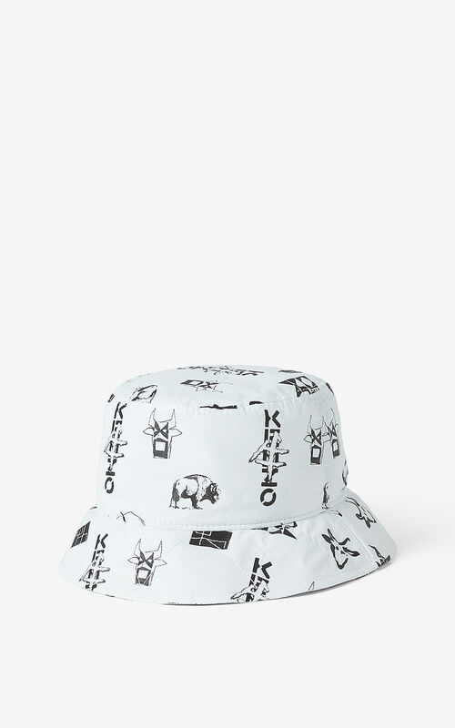 OFF WHITE 'Sign & Symbol' sun hat for unisex KENZO