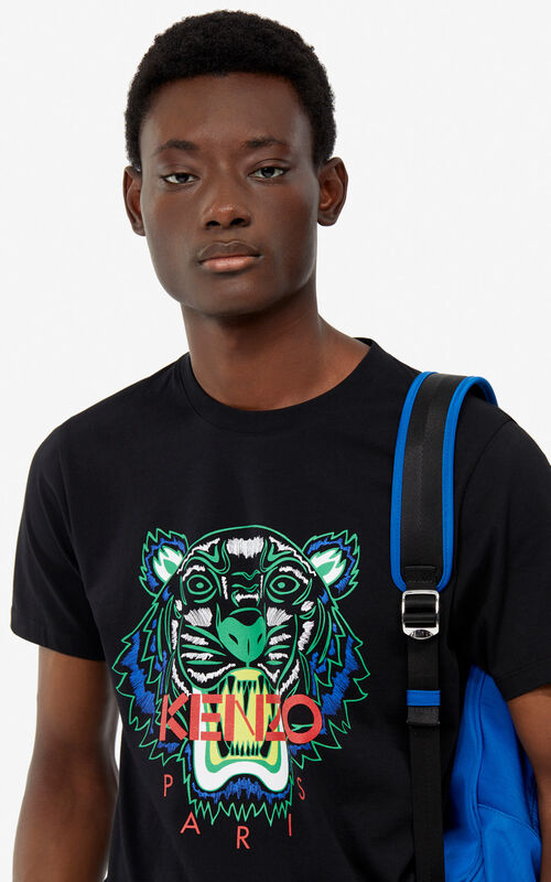 c78d537b8464 BLACK Tiger t-shirt for men KENZO ...
