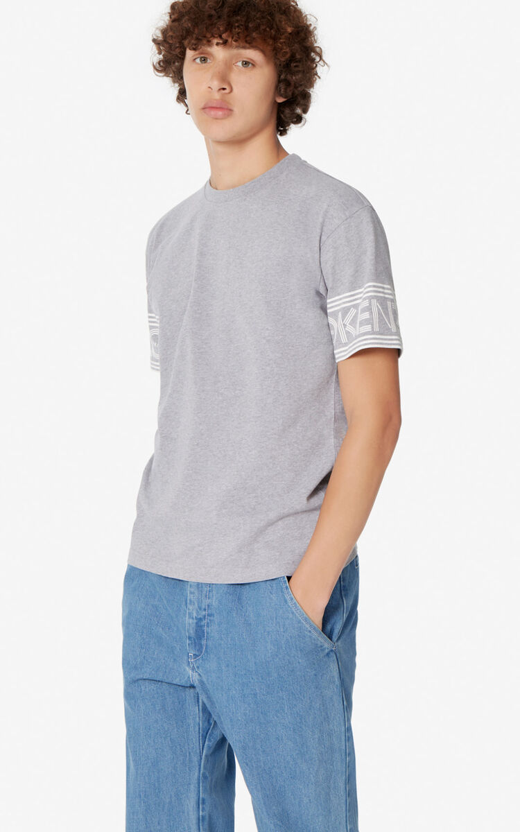 DOVE GREY KENZO Logo T-shirt for men