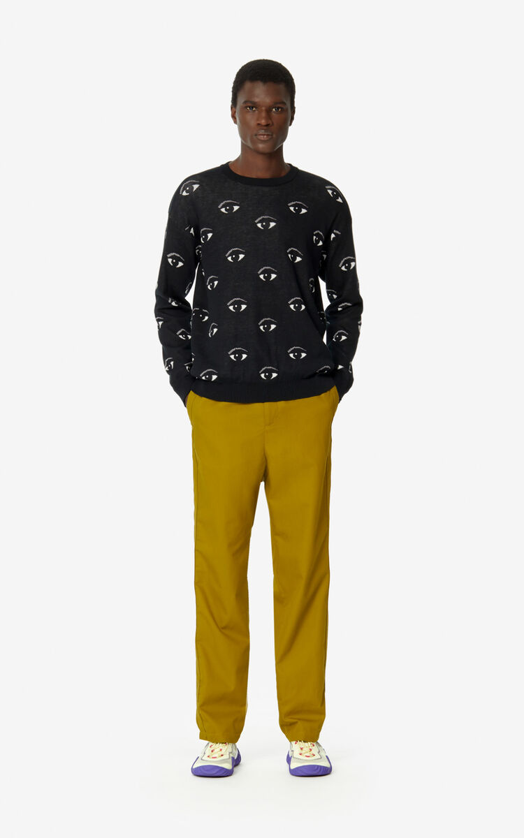 BLACK Eye jumper for men KENZO