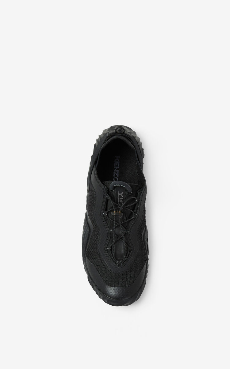 BLACK KENZO Sport Wave mesh trainers for men