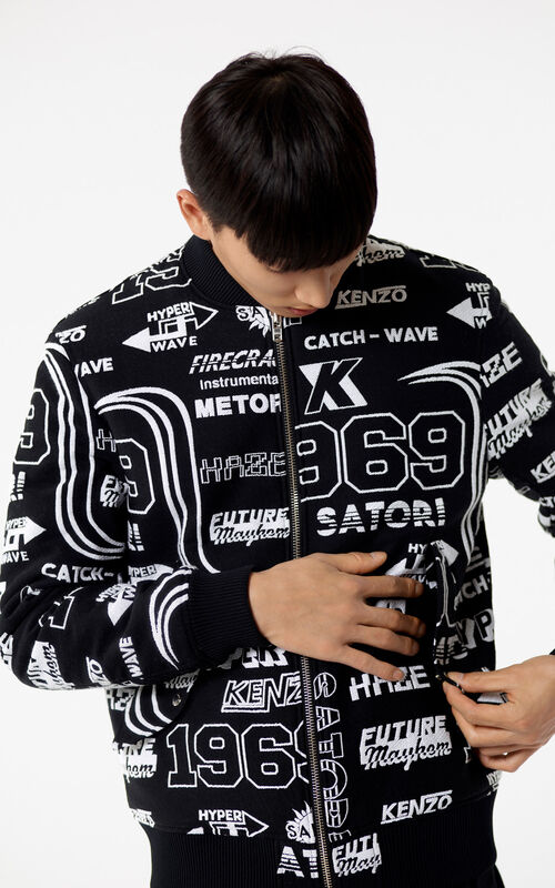 BLACK 'Hyper KENZO' Zipped jacket for men