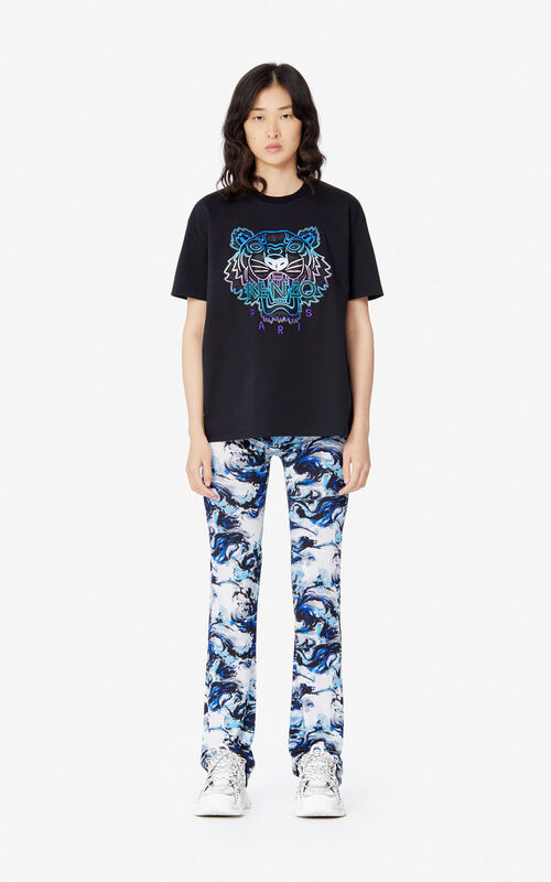 BLACK 'Holiday Capsule' Tiger T-shirt for women KENZO
