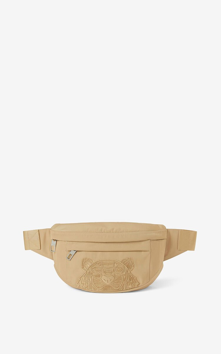 BEIGE Canvas Kampus Tiger bumbag  for unisex KENZO
