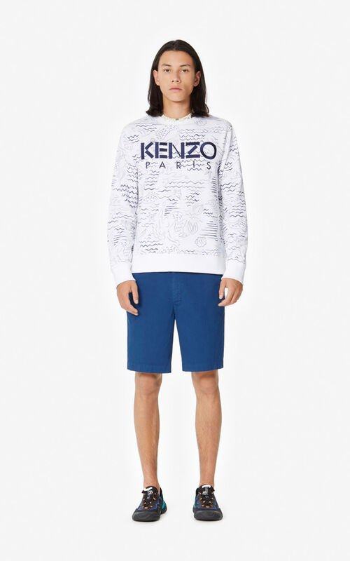 WHITE KENZO Paris 'Mermaids' sweatshirt for men