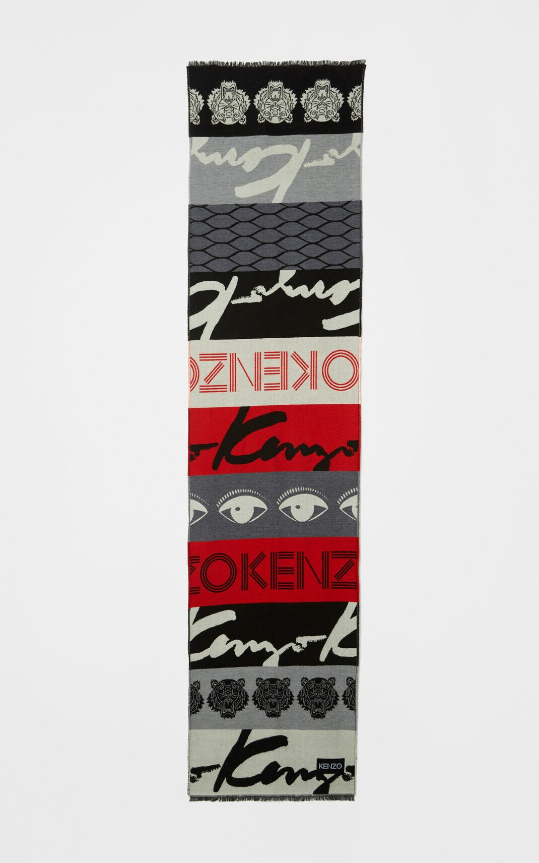MULTICOLOR Multi logo scarf for women KENZO