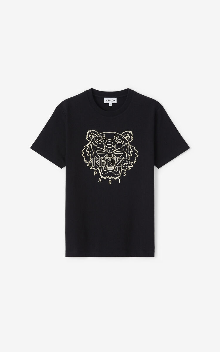BLACK Loose Tiger t-shirt for women KENZO