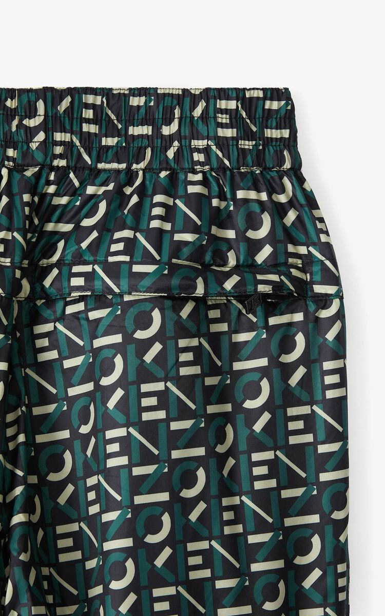 GREEN KENZO Sport monogrammed joggers for women