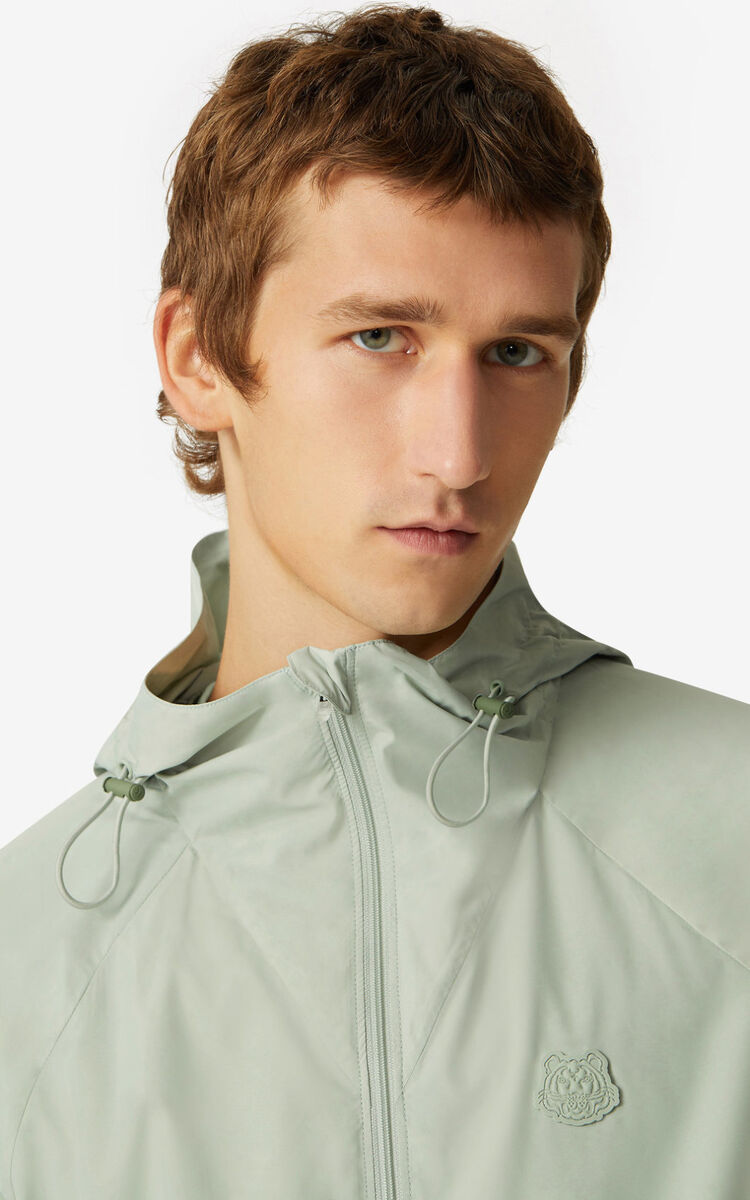 SAGE GREEN K-Tiger windbreaker for men KENZO