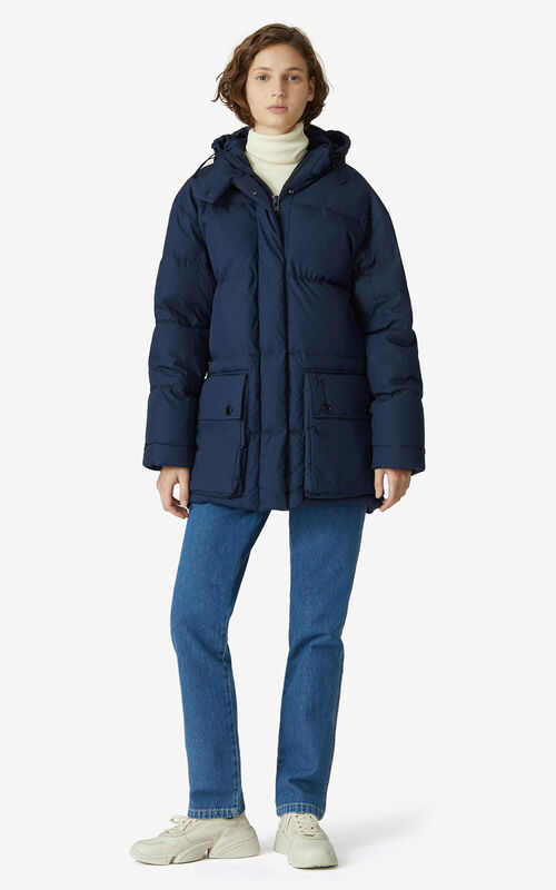 NAVY BLUE Down jackets for women KENZO