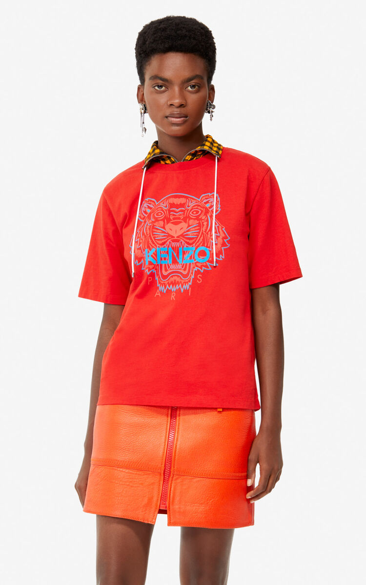 MEDIUM RED Tiger t-shirt for women KENZO