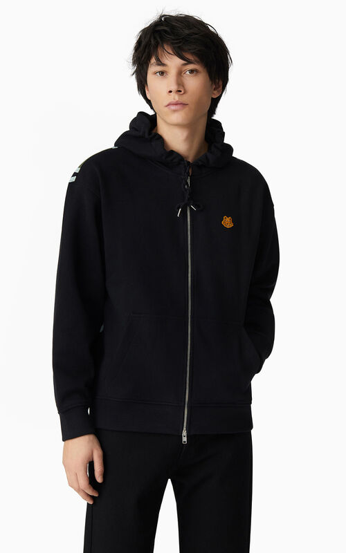 BLACK K-Tiger hooded sweatshirt for women KENZO