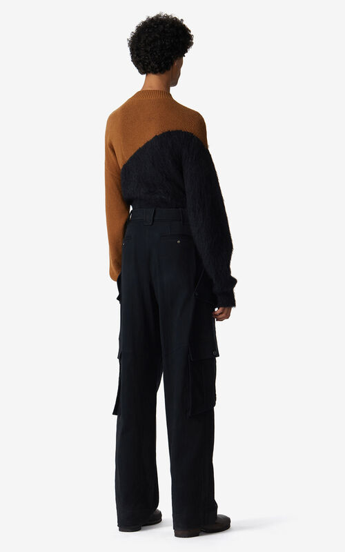 BLACK Oversized cargo trousers for men KENZO