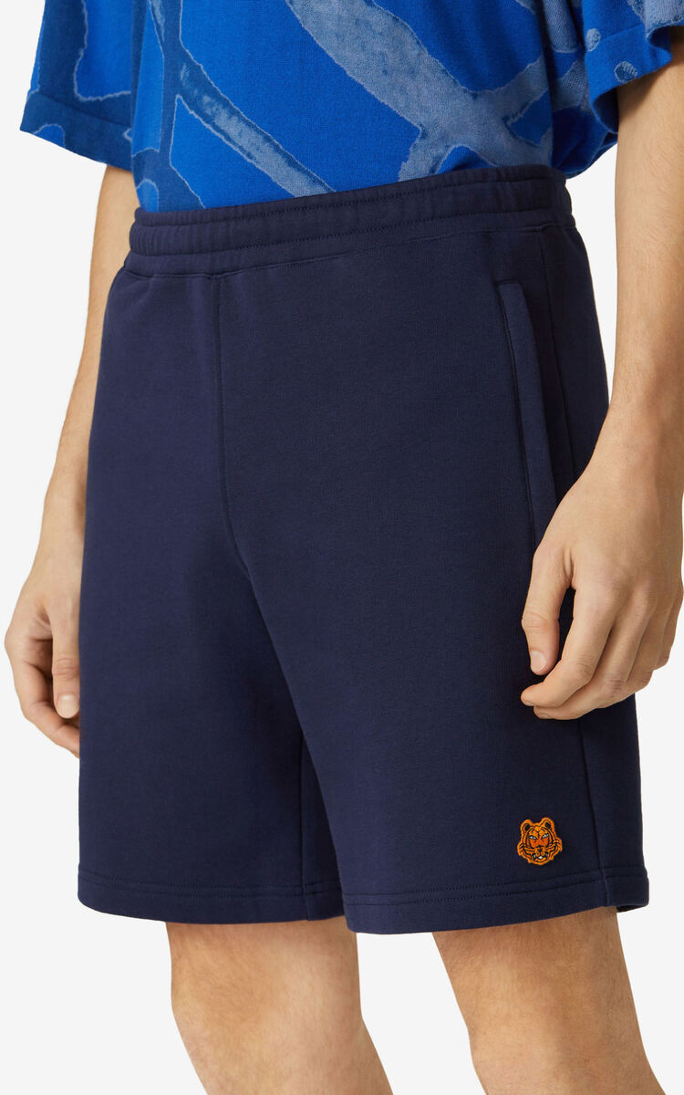NAVY BLUE Tiger Crest shorts for men KENZO