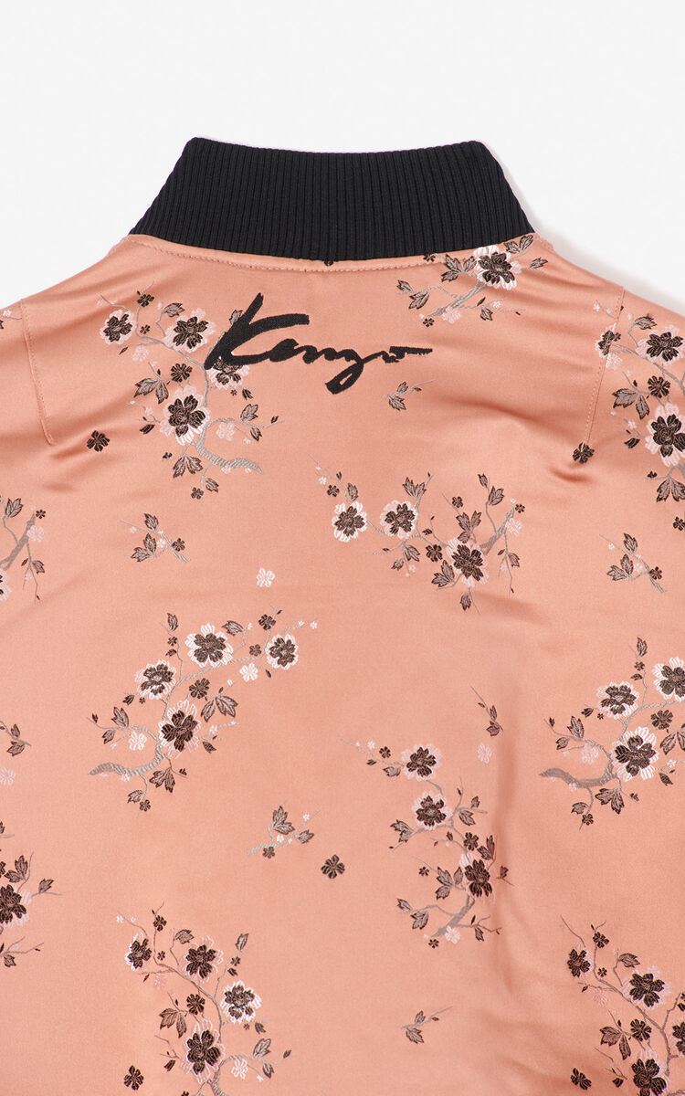 SUEDE 'Cheongsam Flower' bomber jacket for men KENZO