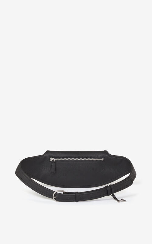 BLACK KENZO Onda leather belt bag for unisex