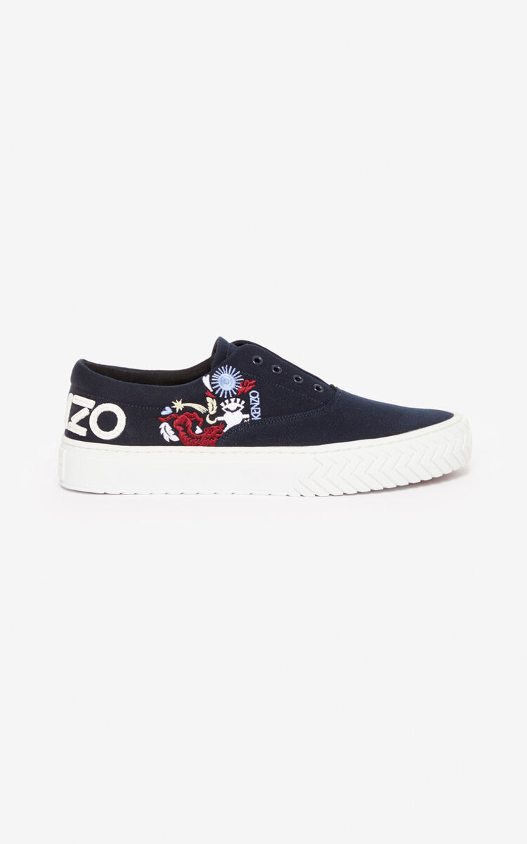 NAVY BLUE 'Lucky Star' K-Skate trainers for unisex KENZO