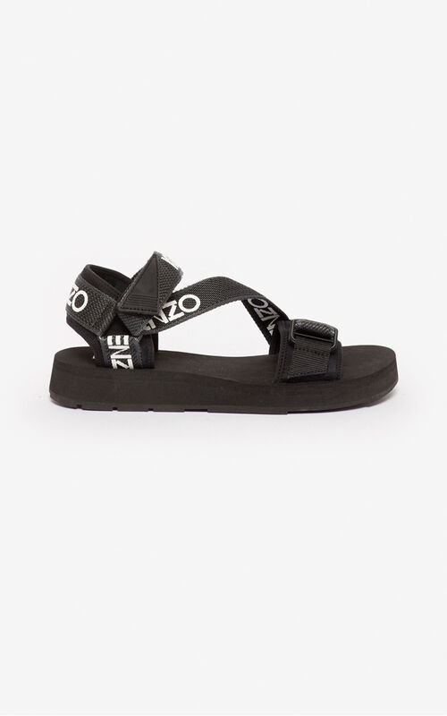 BLACK Papaya sandals for unisex KENZO