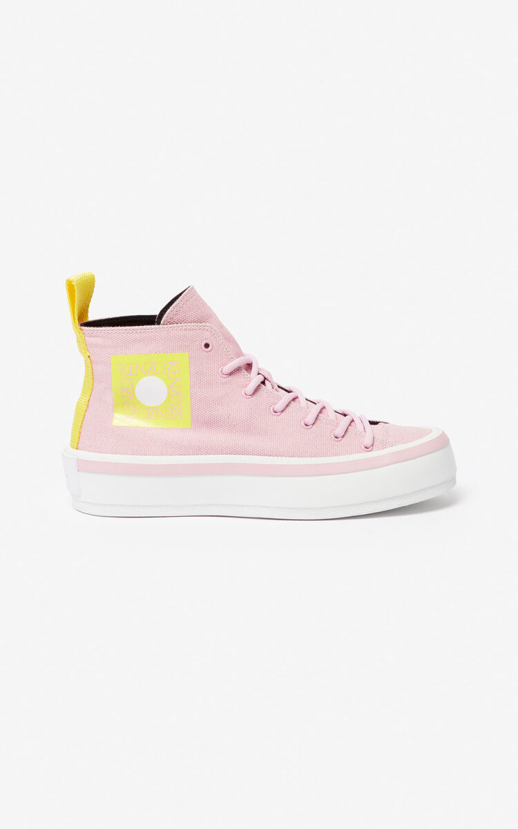 PASTEL PINK 'Square Logo' K-Street sneakers for unisex KENZO