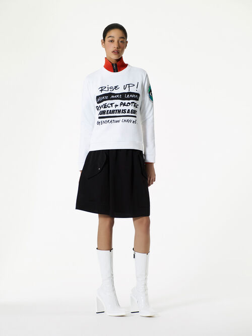 WHITE 'Rise Up' Sweatshirt for women KENZO
