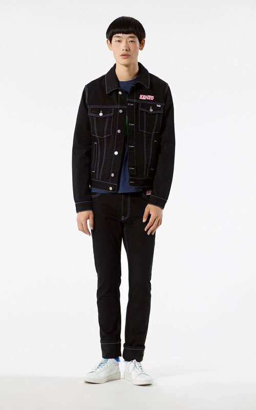 BLACK 'Hyper Kenzo' Denim Trucker Jacket for men