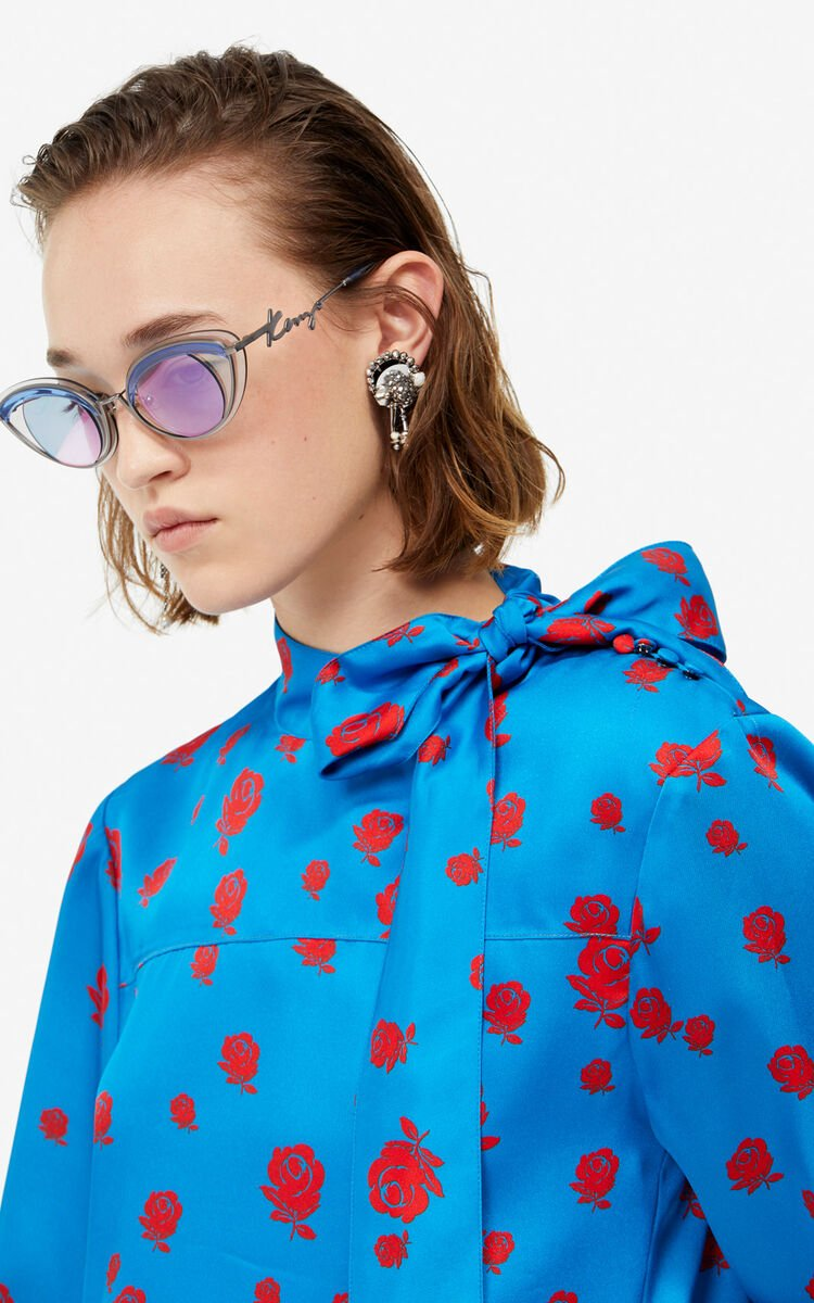 COBALT 'Roses' pussybow blouse for women KENZO