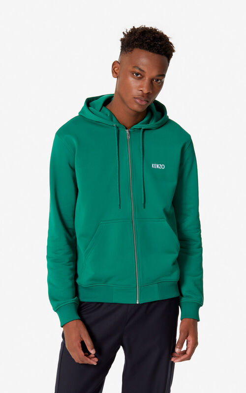 BOTTLE GREEN 'Dragon' hooded jacket for men KENZO