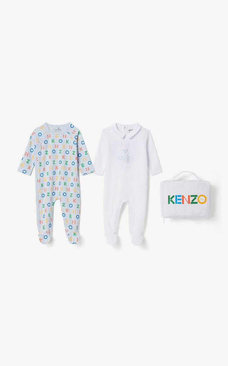 SKY BLUE Boxed set of 2 sleepsuits  for women KENZO