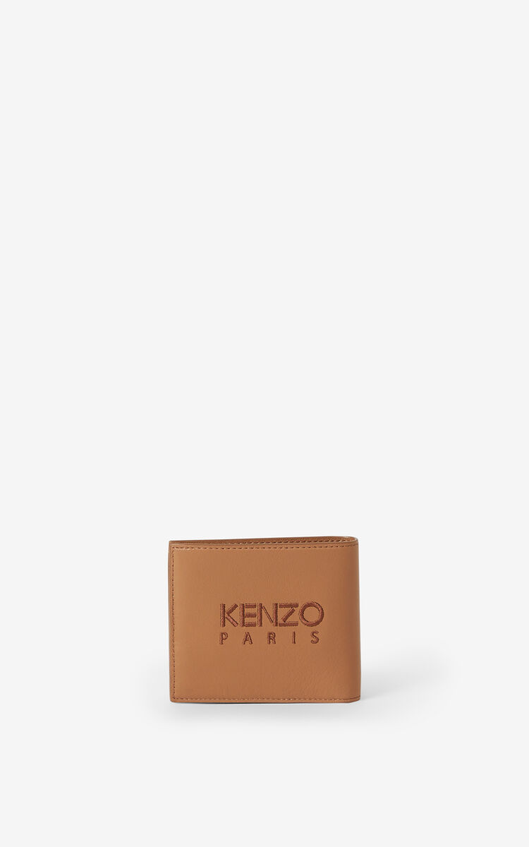 TABAC Kampus Tiger grained leather wallet for unisex KENZO