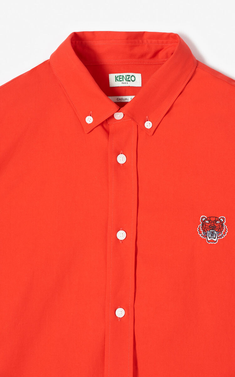 MEDIUM RED Tiger shirt for men KENZO