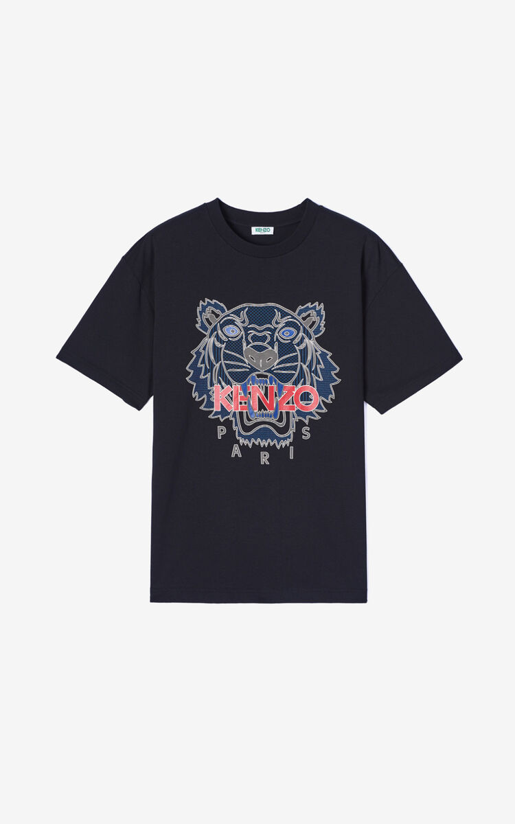 BLACK Tiger t-shirt   for men KENZO