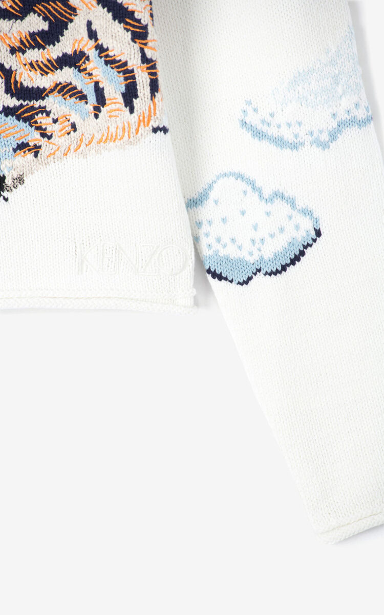 ECRU 'Cloud Tigers' jumper for women KENZO