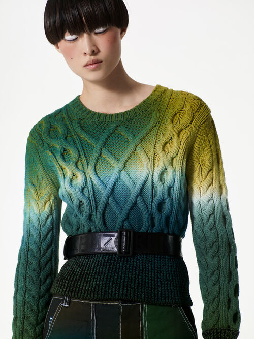 Northern Lights sweater, DARK KHAKI, KENZO
