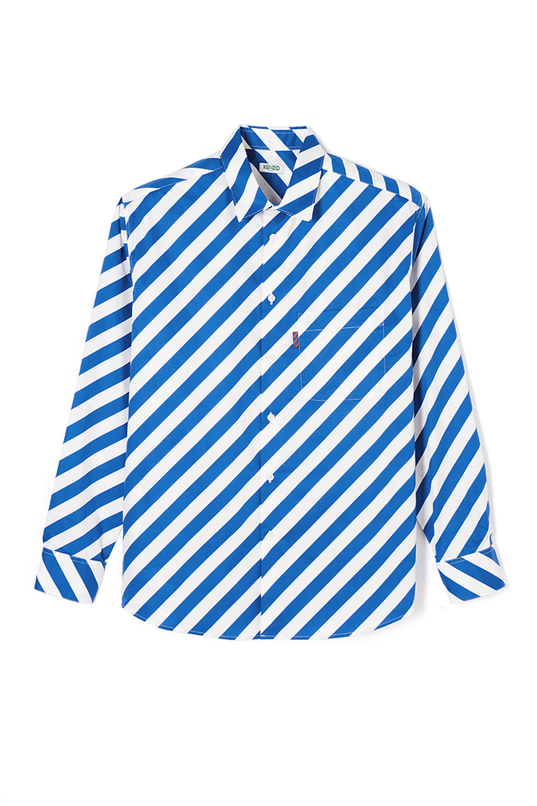 DEEP SEA BLUE Diagonal striped shirt for men KENZO