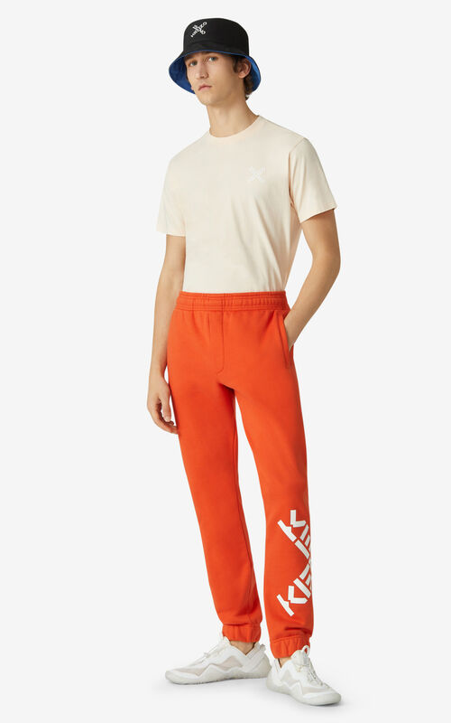 DEEP ORANGE KENZO Sport 'Big X' joggers for men