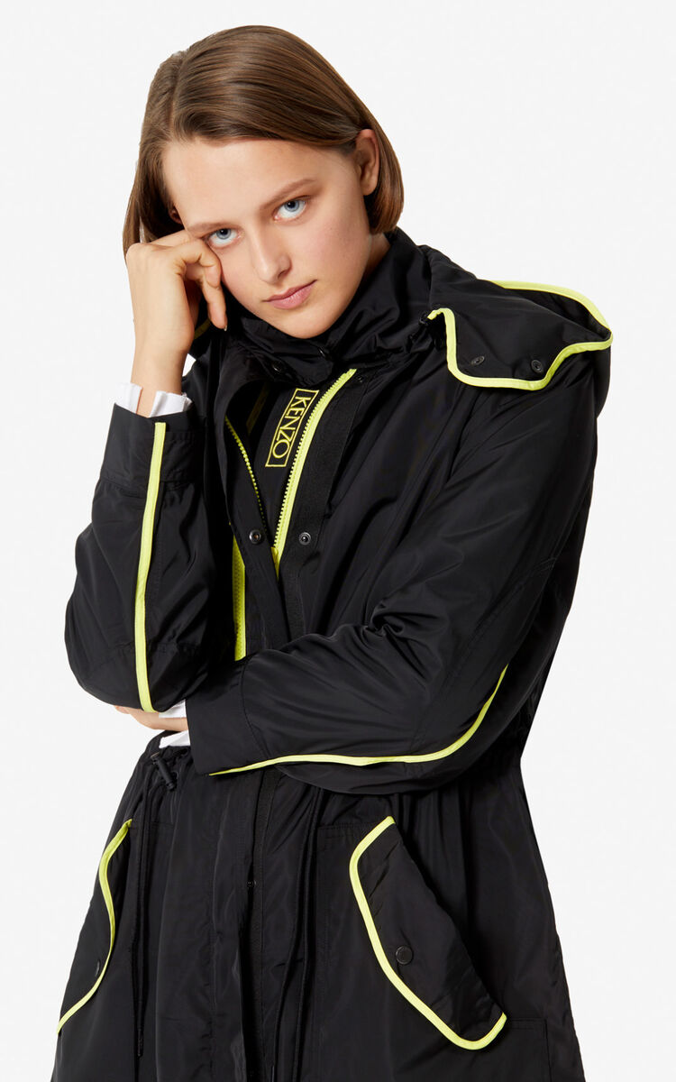 BLACK Two-tone windstopper for women KENZO