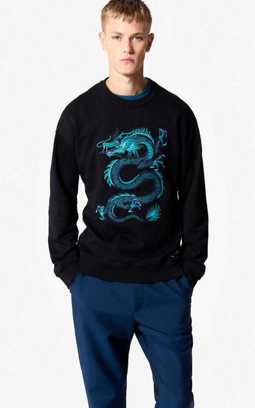 BLACK Dragon sweatshirt 'Holiday Capsule' for men KENZO