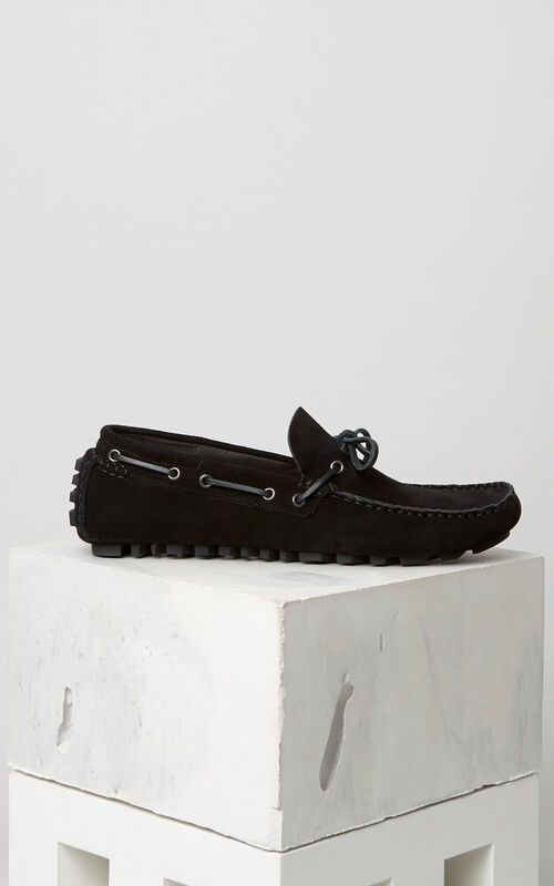 Suede Boat shoes, BLACK, KENZO
