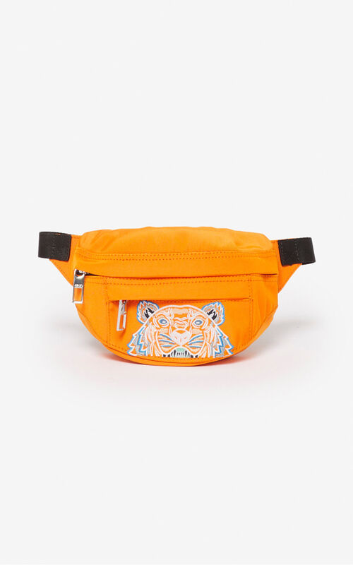 MEDIUM ORANGE Mini 'Kampus' Tiger belt bag for unisex KENZO