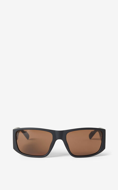 BLACK KENZO Sport sunglasses for unisex